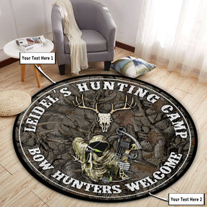 Personalized Hunting Camp Round Mat 06410