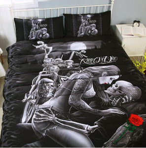 Skull Ride or Die Bedding Set