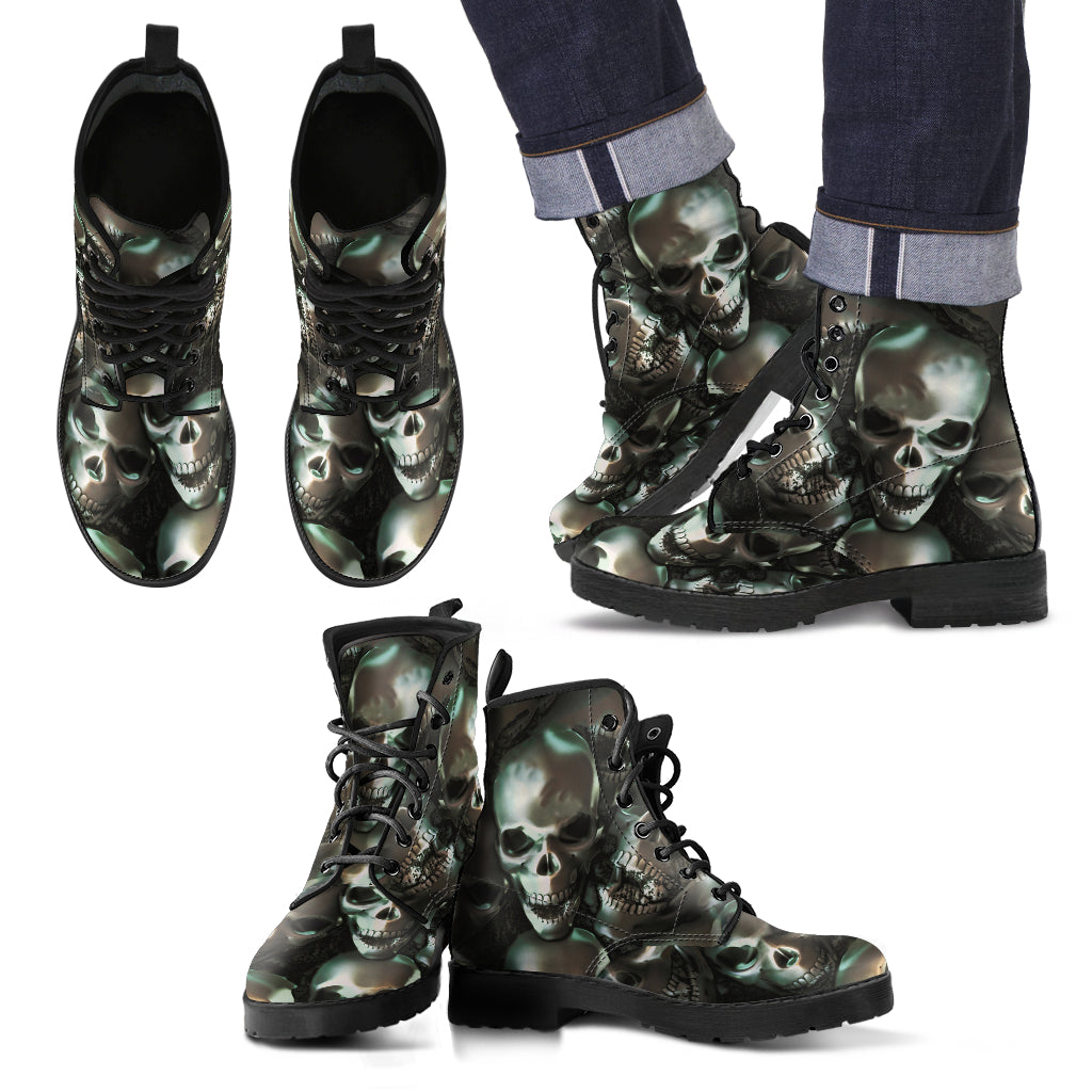 Skull Leather Boot - 00167