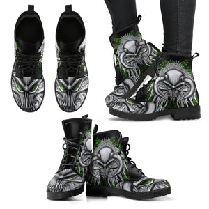 Skull Leather Boot - 0852
