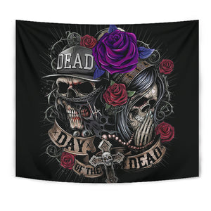 Skull Tapestry_Day of the Dead