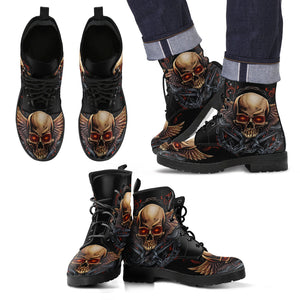 Leather Boots_Wing Skull