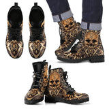 Skull Leather Boots - 0853