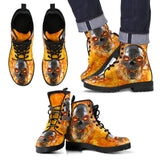 Skull Leather Boot - 00376