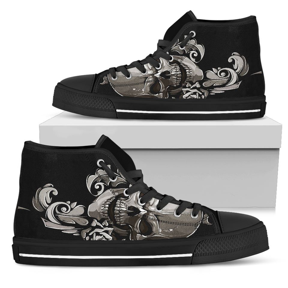 Skull High Top Shoes - 02170