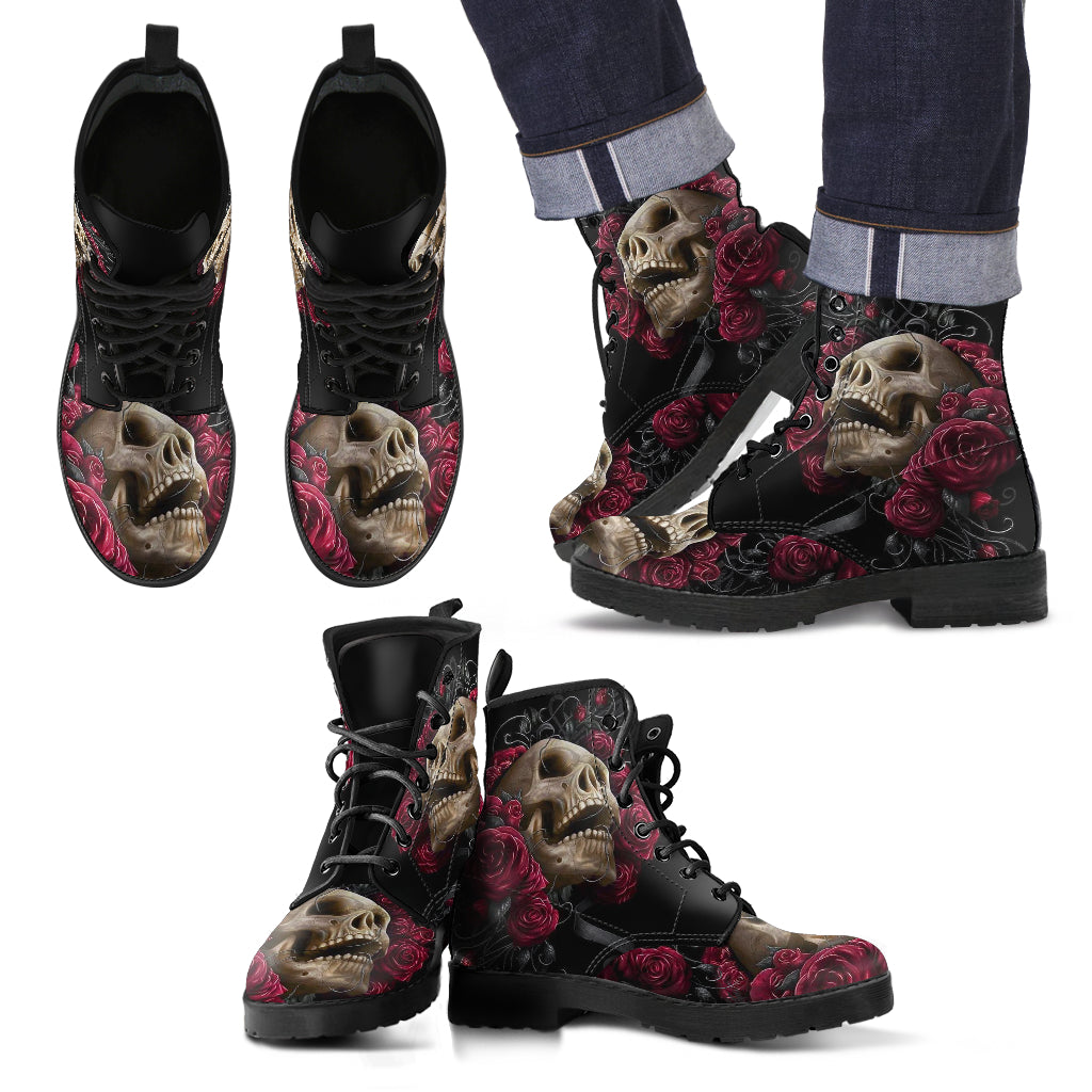 Skull Leather Boot - 00166