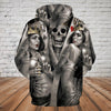 Skull 3D Hoodie_Skeleton King and Queen