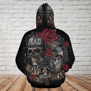Skull 3D Hoodie_Day of the Dead
