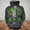 Skull 3D Hoodie_Evil Skull and Dragon