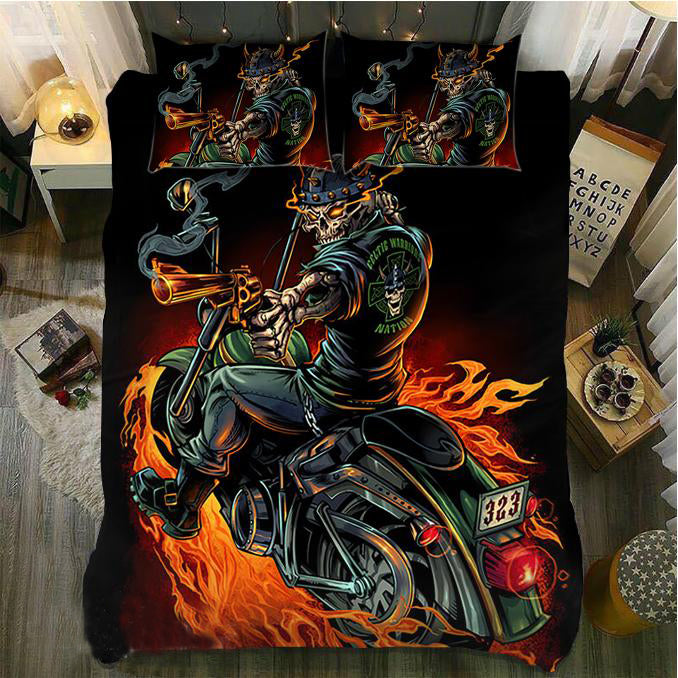 Skull Bedding Set_Riding Skull 1075