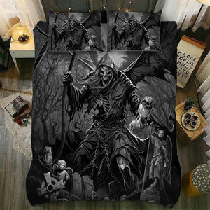 Skull Bedding Set - Grim Reaper