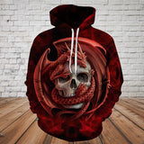 Skull 3D Hoodie_The Enchanted Dragon