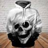Skull 3D Hoodie - Dark and White Skull 1103