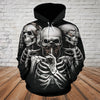 Skull 3D Hoodie - See no evil, hear no evil, speak no evil
