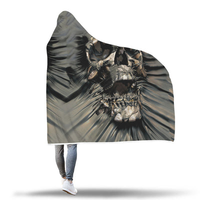 Skull Hooded Blanket - 0881