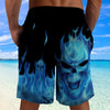 Skull 3D Shorts_Blue Ghost