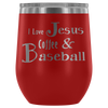 Wine Tumbler_Love Jesus Coffe and Baseball