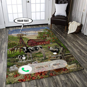 07514-Personalized Farm Calling Area Rug