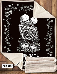 07528- Skull Couples Quilt | Wedding Gift For Couple