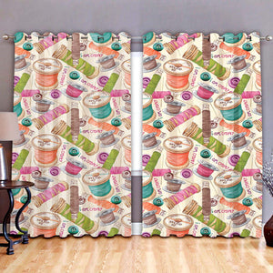 Quilting Sewing I Am Crafty Window Curtain 07423