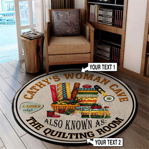 Quilting Room Vintage Welcome Round Mat 07412