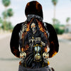 3D Zip Hoodie_Grim Reaper with Hourglass