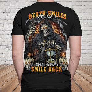 Skull 3D T-shirt_Only The Brave Smile Back