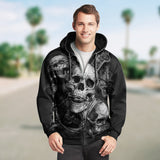 Skull 3D Zip Hoodie_See no Evil, Hear no Evil, Speak no Evil