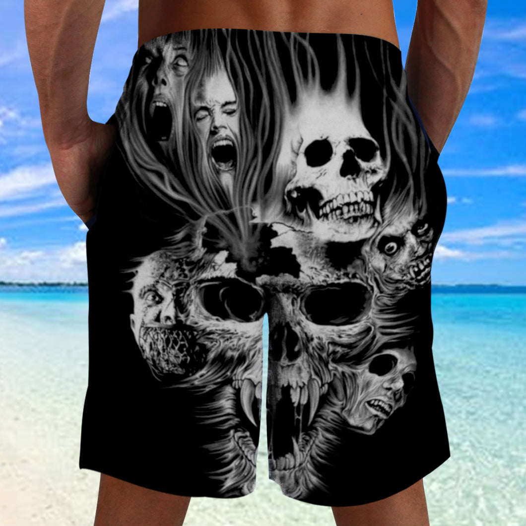 Skull 3D Shorts_ Screaming Skull