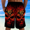 Skull 3D Shorts_Red Fire Skull