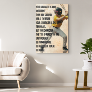 Custom Baseball Canvas_Your Character is more Important