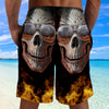 Skull 3D Shorts_Hell Fire Skull