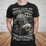 Skull 3D T-shirt_Don't Take My Kindness of Weakness