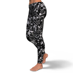 Skull Leggings - 0436
