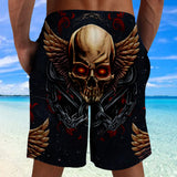 3D Shorts_Winged Skull