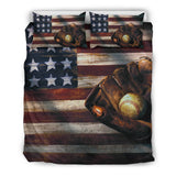 American Flag Baseball Bedding Set