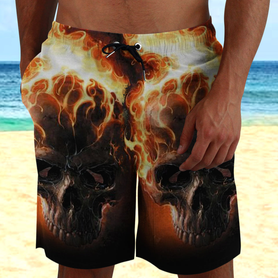 Skull 3D Shorts_Flaming Skull_Ghost rider