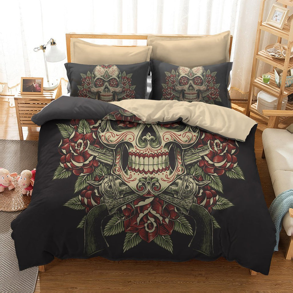 New Sugar Skull  Bedding Set