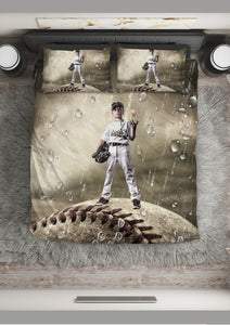 Custom Baseball Bedding_Standing on The Ball