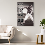 Custom Baseball Canvas_It's not the Number on My Back