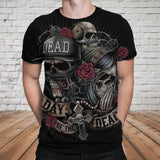 Skull 3D T-shirt_Day of the Dead