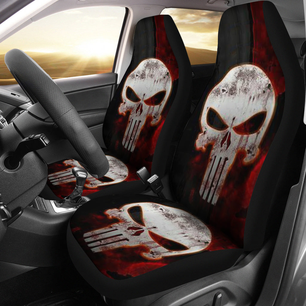 Car Seat Covers_Punisher Skull