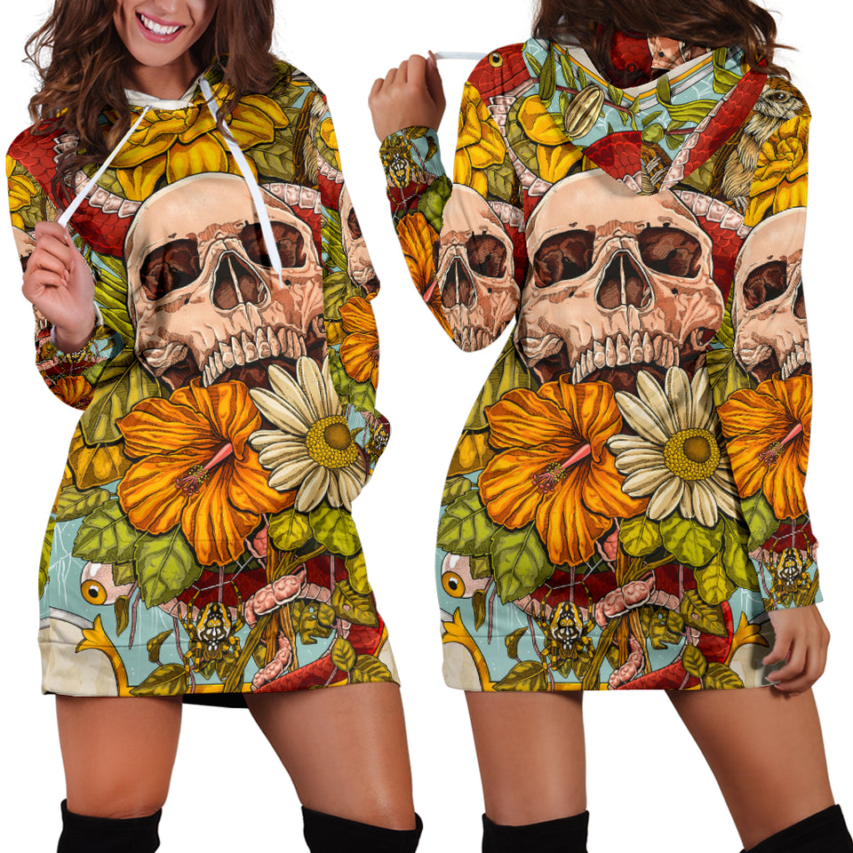 Skull Hoodie Dress_Spring and Skull