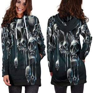 Skull Hoodie Dress_Melting Skull