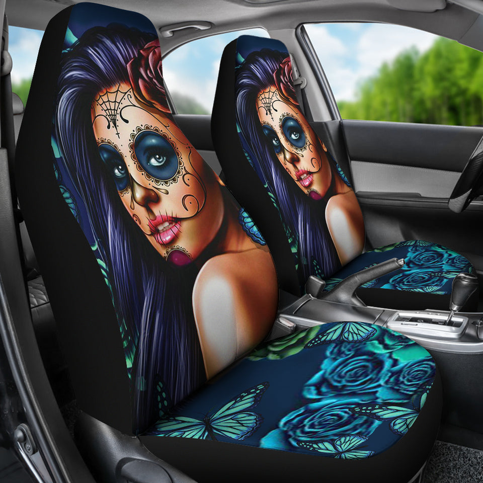 Skull Car Seat Covers - 0579