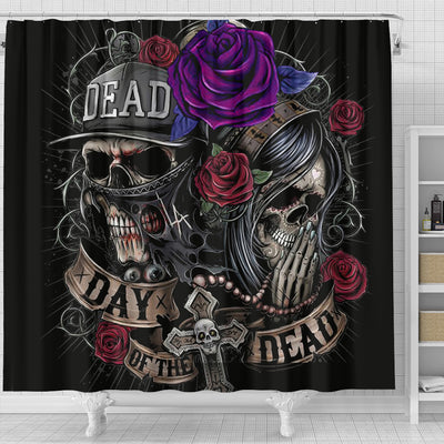 Skull Shower Curtain - 0681-4