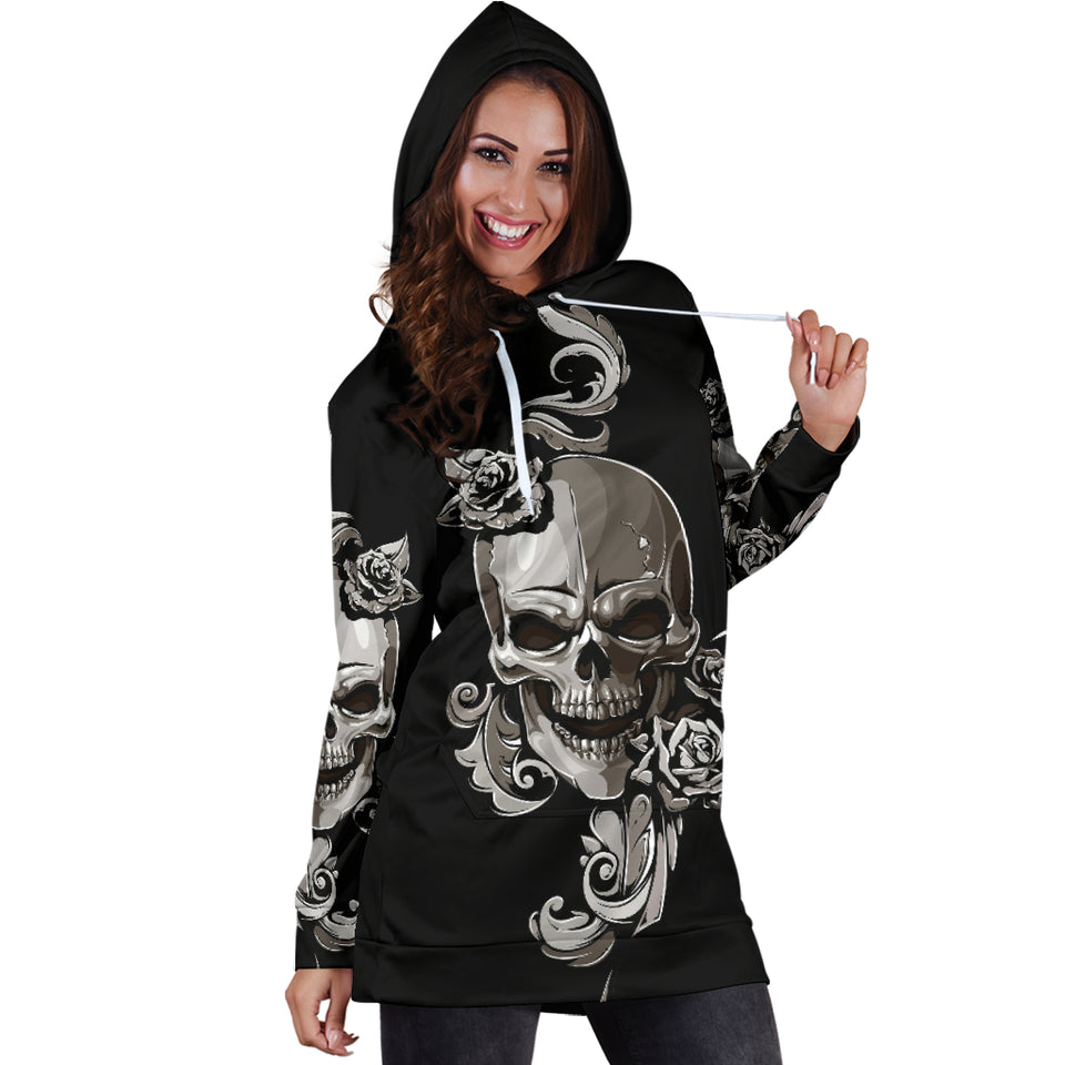 Skull Women's Hoodie Dress 0995