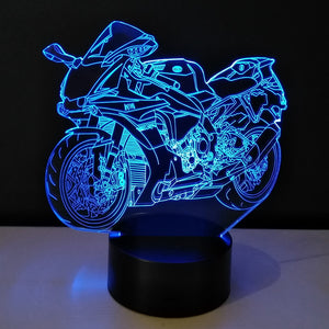 Motorcycle LED Night Light 7 Color Changeable