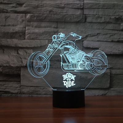 Born to ride 3D Lamp 7 Changeable Color