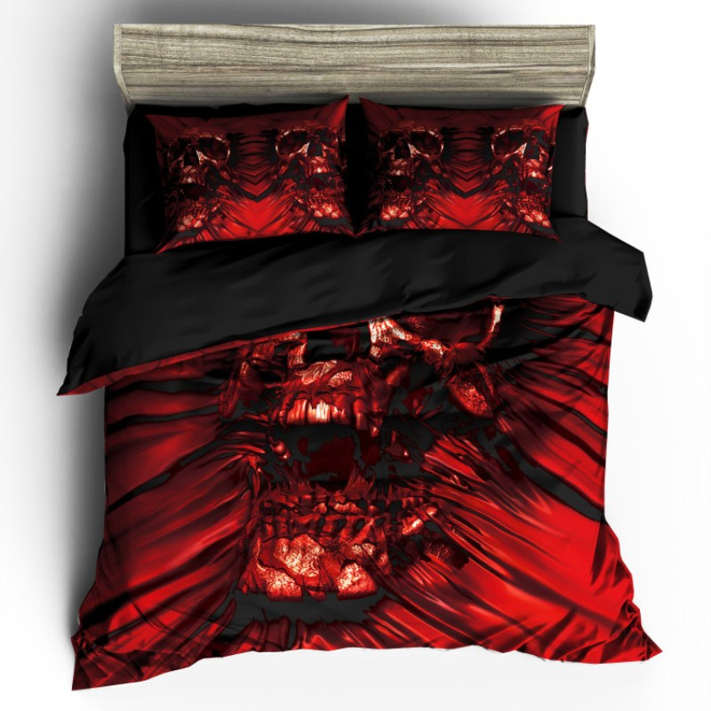 Skull Bedding set_Red Skull